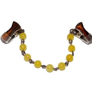Natural Yellow Stone Simple Sweater Clips